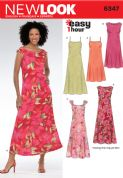 6347 New Look Pattern: Misses' Summer Dresses